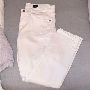 AG The Ex-Boyfriend Slouchy Slim White Jeans